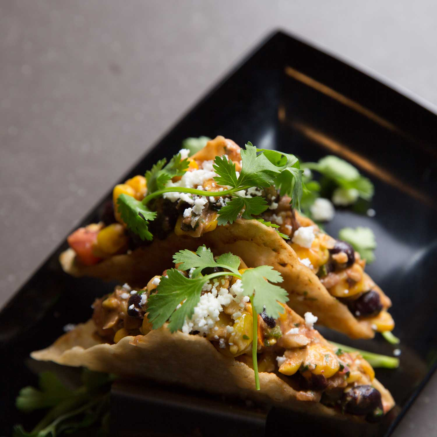 BEAN & CORN WON TON TACOS